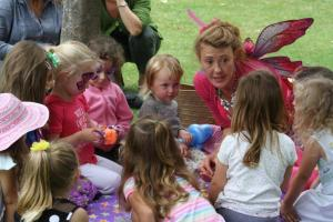A fairy enchants children at Toddlers' Big Day Out