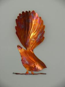 Copper Bird from artist David Reese Keane Copper Crafts who will be displaying some of his works at the event